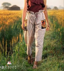 Agarwal Fashion Plain Khadi Pants