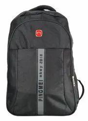 Plastic Zip Black Men Backpack