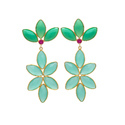 Nice Colour Combination Beautiful Looking Gemstone Silver Gold Plated Earring Indianna