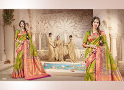 Party Wear Chiffon Saree with Blouse Piece, Saree Length: 5.5 m