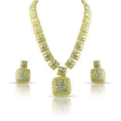 Gold CZ Studded Necklace