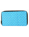 Lavender Cotton and Faux Leather Solid Dyed Ladies Clutch Wallet Bag