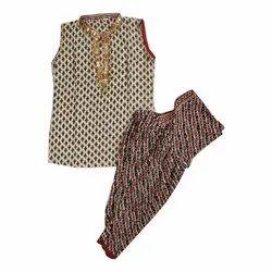 Party Wear Cotton Kids Patiala Suit