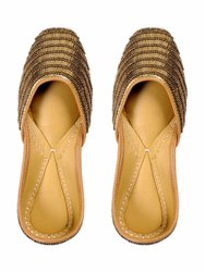 Genuine Soft Leather And Comfortable Ladies Juttis/Ethnic Flat Shoes