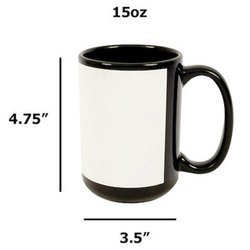 Black Patch Mug 15oz
