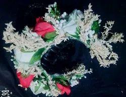 Artificial rose brooch