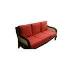 Red Three Seater Living Room Sofa, 6 Inch