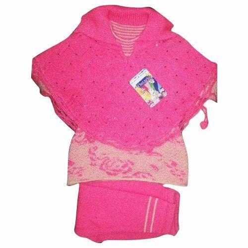 081d48bf9809 Pink Girl Fancy Woolen Dress
