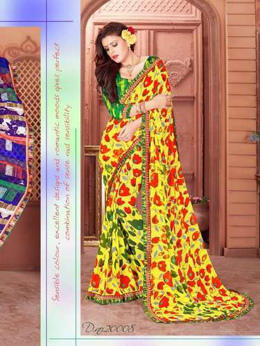 930a0aa0e Georgette Weightless Fabric Saree