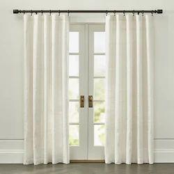 Plain Silk Eyelet Curtain