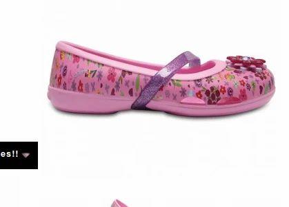 7e09406ecc34 Crocs Lina Party Pink Girls Flat Bally Shoes and Crocs Lina Graphic ...