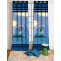 Dhanshree Polyester Digital Print Decorative Curtain, For Can Be Used Everywhere, Design/pattern: Abstract