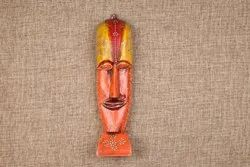 Wooden Face Art For Walls, Hand Painted