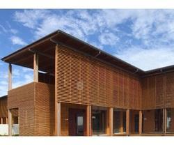 Full Height Thermo Pine Wood Louvers