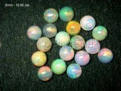 Ethiopian Welo Opal Round Cabochon Gemstone