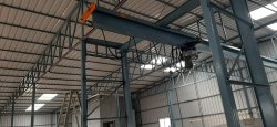 Industrial Structural Construction With EOT Cranes