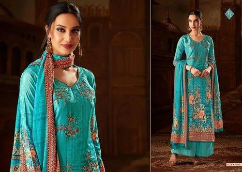 dc7cd15357 GULZAR-1203 Colors - Blue And Cream Lehenga Style Salwar Suit Manufacturer  from Surat