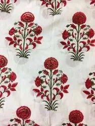 Block Printed Cotton Dress Meteriyal