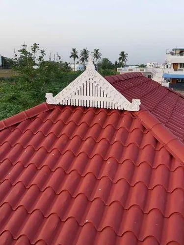 Euro Roofing Sheet Work Kerala Model Tile Roof Rs 250 Square Feet Kerala Model Colour Roofings Id 21480926412
