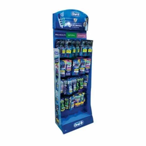 Modern Trade Display Racks For Toothbrush With Peg Hooks