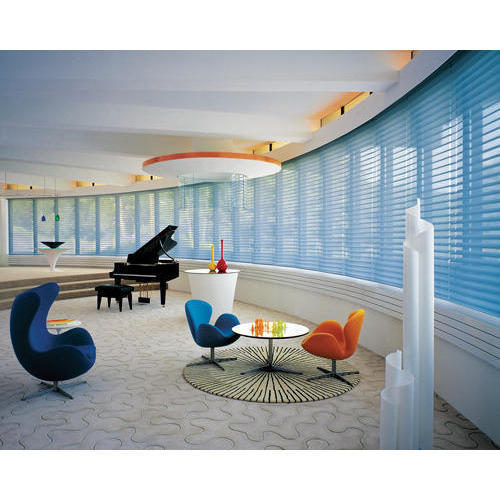 Blue PVC Silhouette-Power Rise-Plat Blind, For Hotel,Home