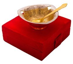 Wedding Gifts Silver and Gold Plated Bowl Set