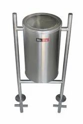 SS Swing Bin With Pole