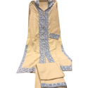 Cotton Stylish Embroidered Ladies Suit, Size: S, M & L