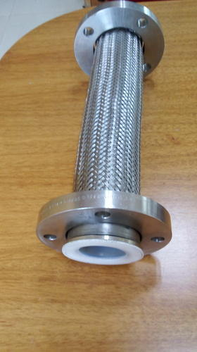 SS Braided PTFE Expansion Bellow With Flange