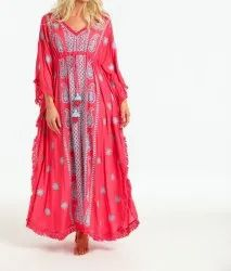 Embroidery Long Kaftan