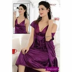 Satin Two Pieces Nighty
