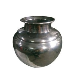 Mirror Polish Silver Stainless Steel Kudam, Material Grade: Ss 202, For Home