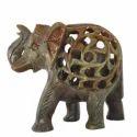 Soapstone Carving Elephant Sculpture
