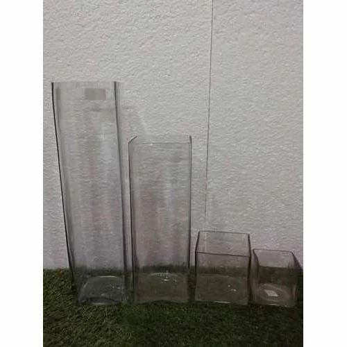 Glass Square Vase Set At Rs 630 Set Glass Vase Id 19634214812