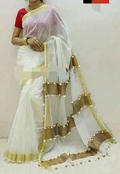 Silk Festive Wear Saree, With Blouse Piece