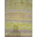 Yellow Cotton Saree Printing Services, With Blouse Piece, 6 Meter