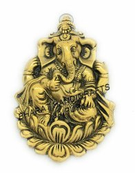 Golden Plated Wall Hanging Kamal Ganesh