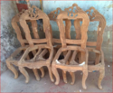 Brown Wooden Chair Frame