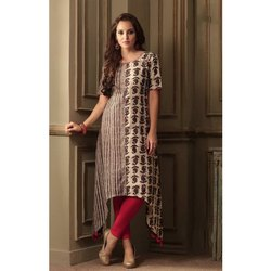 Designer Half Sleeve Cotton Kurti
