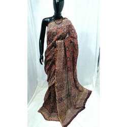 Cotton Printed Fancy Work Saree, Length: 6.3 m