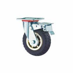 Double Ball Bearing Rubber Caster Wheel
