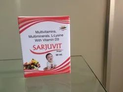 Sarjuvit Drops Multivitamins, Mutiminerals, L-Lysine With Vitamin D3