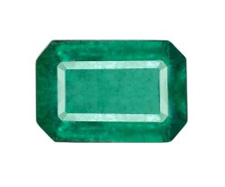 Long Emerald Cut Zambian Emerald