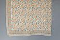 Cotton Kalamkaari Pumpkin Quilt / Block Print Jaipuri Razai / Kantha Vintage Quilts Hand Quilted .