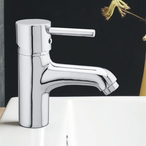 Silver Stainless Steel Single Lever Basin Mixer