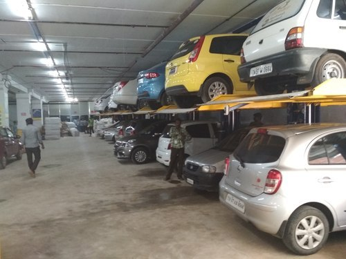 Hydraulic Lift Two Post Car Parking System At Rs 200000 Unit