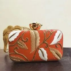 New Design Orange Clutch