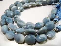 Blue Opal Oval Faceted Beads