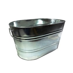 Bucket Planter with Wood Handle