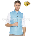 Men's Assorted Party Wear Nehru Jacket - Light Blue Colour
